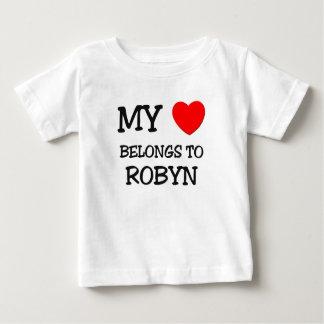 Mi corazón pertenece a ROBYN Playeras