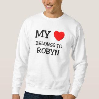 Mi corazón pertenece a ROBYN Pulovers Sudaderas