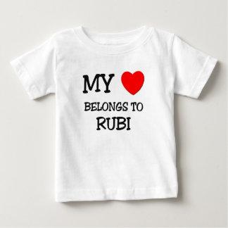 Mi corazón pertenece a RUBI Playeras