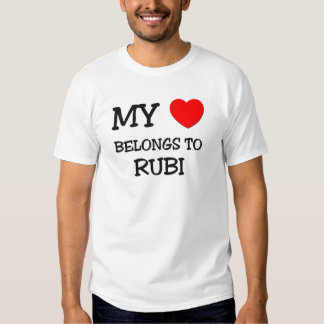 Mi corazón pertenece a RUBI Polera