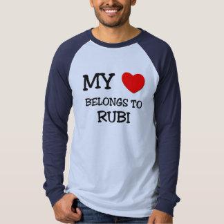 Mi corazón pertenece a RUBI Poleras