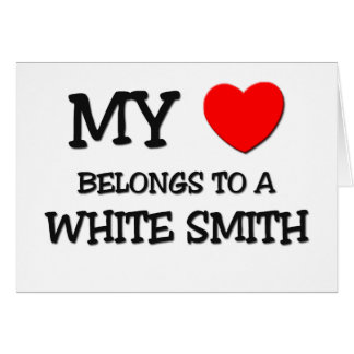 Mi corazón pertenece a SMITH BLANCO Tarjeta