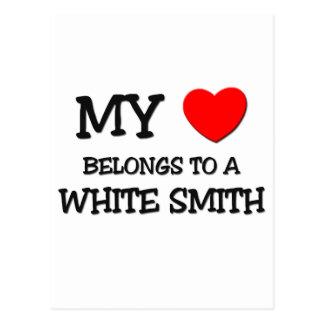 Mi corazón pertenece a SMITH BLANCO Postales