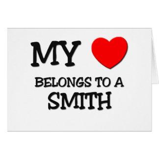 Mi corazón pertenece a SMITH Felicitacion