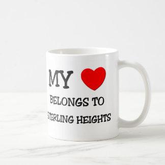 Mi corazón pertenece a STERLING HEIGHTS Tazas