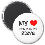 Mi corazón pertenece a Steve Imán Redondo 5 Cm