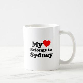 Mi corazón pertenece a Sydney Taza Clásica