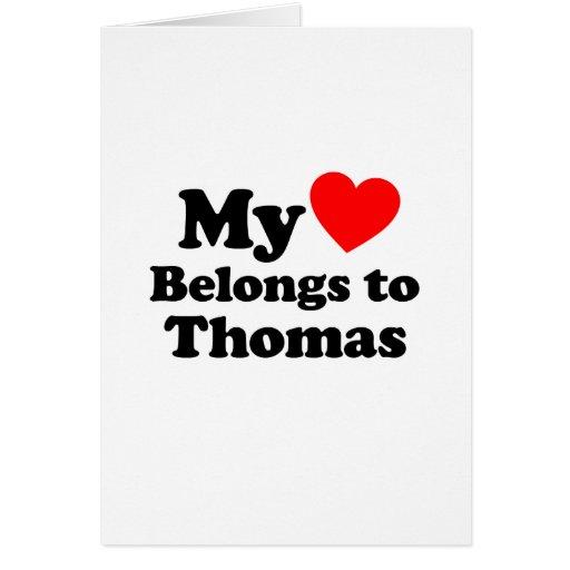 Mi corazón pertenece a Thomas Tarjetón