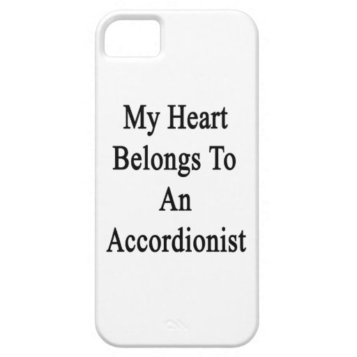 Mi corazón pertenece a un acordeonista iPhone 5 Case-Mate protector