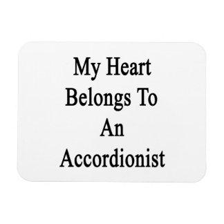 Mi corazón pertenece a un acordeonista imanes