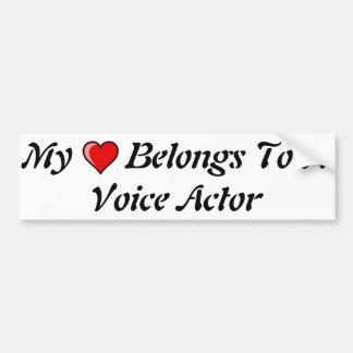 Mi corazón pertenece a un actor de la voz pegatina para auto