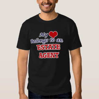 Mi corazón pertenece a un agente de la propiedad camisas