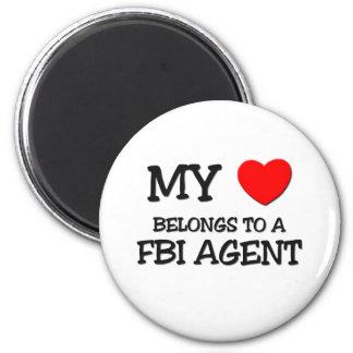 Mi corazón pertenece a un AGENTE DEL FBI Imán Redondo 5 Cm