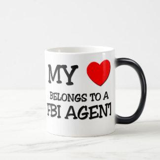 Mi corazón pertenece a un AGENTE DEL FBI Tazas De Café
