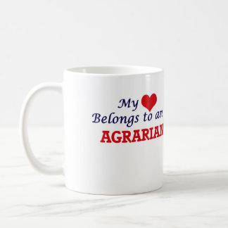 Mi corazón pertenece a un agrario taza de café