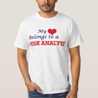 Mi corazón pertenece a un analista del riesgo playera