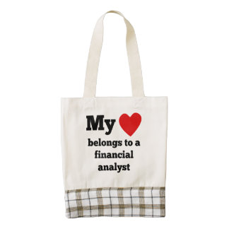 Mi corazón pertenece a un analista financiero bolsa tote zazzle HEART