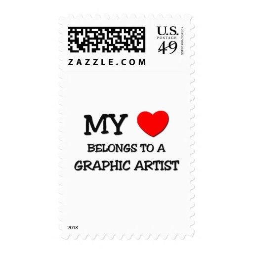 Mi corazón pertenece a un ARTISTA GRÁFICO Sellos