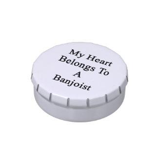 Mi corazón pertenece a un Banjoist Frascos De Dulces