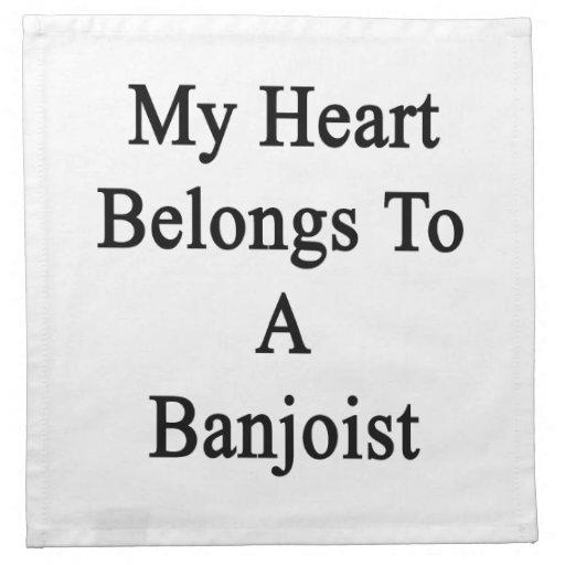 Mi corazón pertenece a un Banjoist Servilleta De Papel