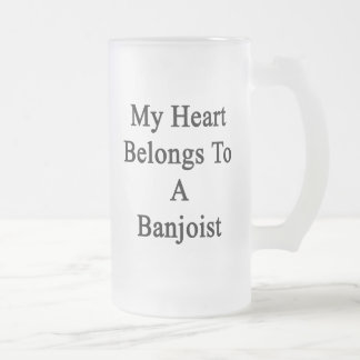 Mi corazón pertenece a un Banjoist Tazas