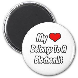 Mi corazón pertenece a un bioquímico imanes de nevera