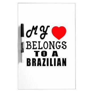 Mi corazón pertenece a un brasilen@o pizarra