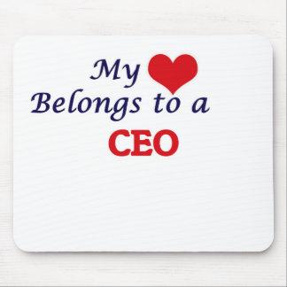 Mi corazón pertenece a un CEO Alfombrillas De Ratones