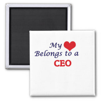 Mi corazón pertenece a un CEO Imán Cuadrado