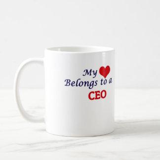 Mi corazón pertenece a un CEO Taza De Café