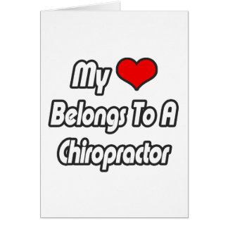 Mi corazón pertenece a un Chiropractor Tarjetón