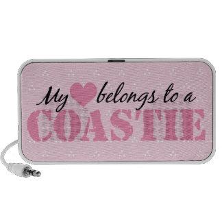 Mi corazón pertenece a un Coastie Altavoz De Viajar