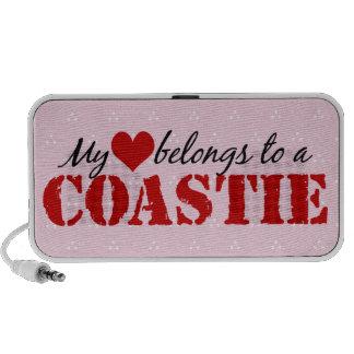Mi corazón pertenece a un Coastie iPod Altavoz