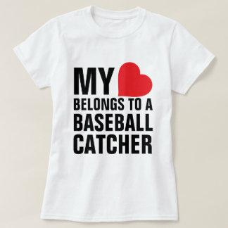 Mi corazón pertenece a un colector del béisbol playera