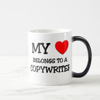 Mi corazón pertenece a un COPYWRITER Tazas De Café