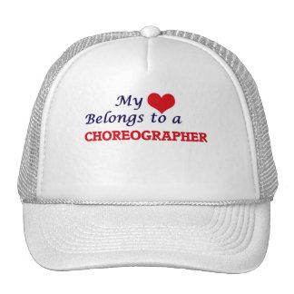 Mi corazón pertenece a un coreógrafo gorros bordados