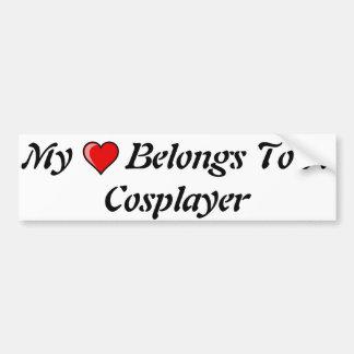 Mi corazón pertenece a un Cosplayer Pegatina Para Auto