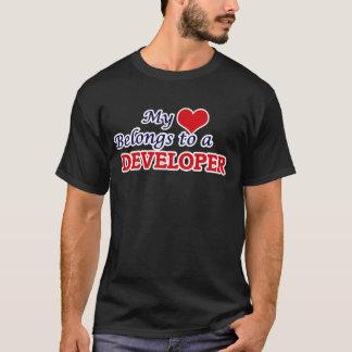Mi corazón pertenece a un desarrollador playera