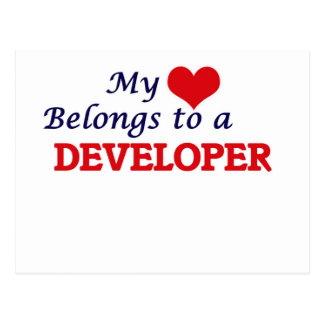 Mi corazón pertenece a un desarrollador postales