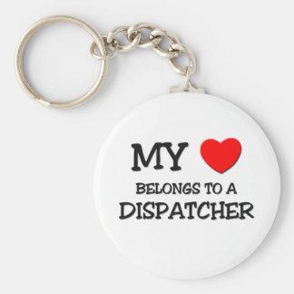 Mi corazón pertenece a un DESPACHADOR Llavero Personalizado