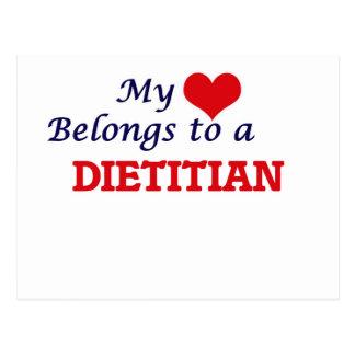 Mi corazón pertenece a un dietético postal