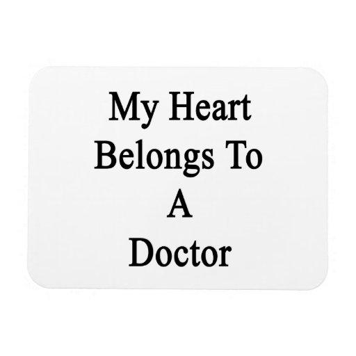 Mi corazón pertenece a un doctor imán flexible