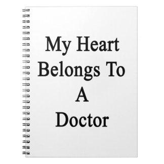 Mi corazón pertenece a un doctor libreta