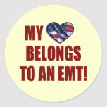 Mi corazón pertenece a un EMT Pegatina