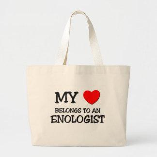 Mi corazón pertenece a un ENOLOGIST Bolsa Tela Grande