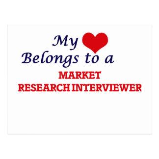 Mi corazón pertenece a un entrevistador del postales