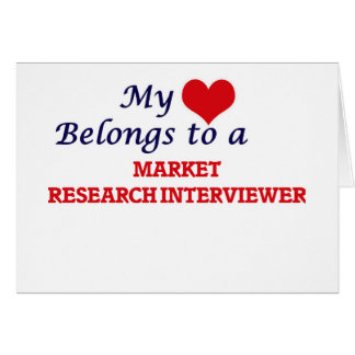 Mi corazón pertenece a un entrevistador del tarjeta de felicitación