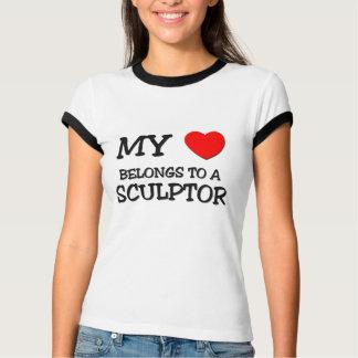 Mi corazón pertenece a un ESCULTOR Camisas
