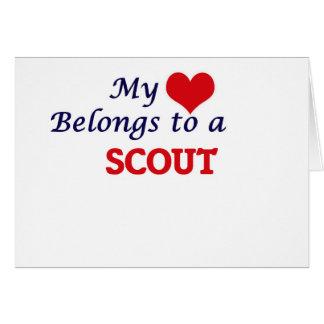 Mi corazón pertenece a un explorador tarjeta de felicitación