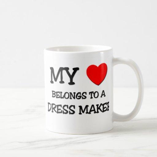 Mi corazón pertenece a un FABRICANTE del VESTIDO Taza De Café